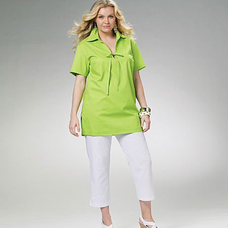 Lime-Green-with-V-Front-en-Pullover-top