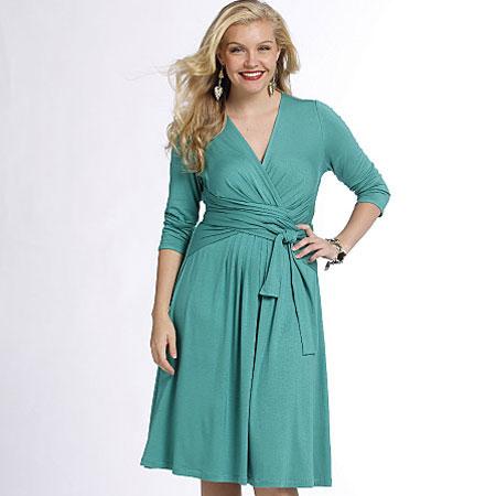 Mock-wrap-dress
