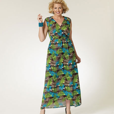 Multicoloured-Print-Asymmetrical-hemmed-dress