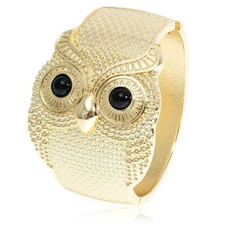 Owl Pattern Zinc Base Bracelet 1